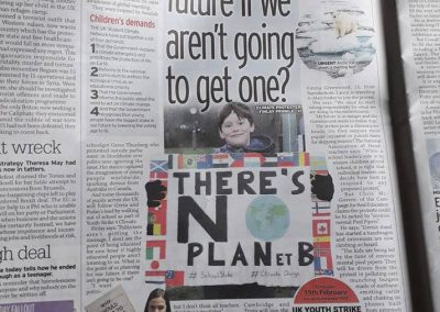 Daily Mirror acticle Fin interviewed School Strike for Climate Action