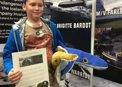 Finlay Pringle Ullapool Shark Ambassador Getting my Sea Shepherd certificate at the Birmingham Dive Show 2018