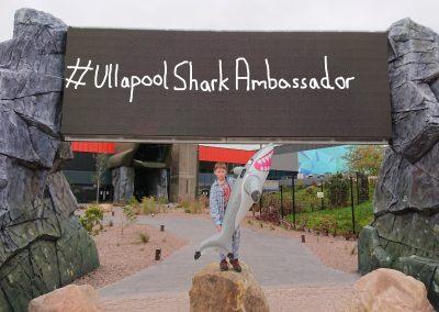 Finlay Pringle Ullapool Shark Ambassador Protesting outside the Bear Grills Adventure