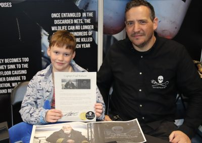 Finlay Pringle Ullapool Shark Ambassador Receiving my Shark Ambassador certificate from Rob Read, COO of Sea Shepherd UK