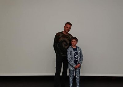 Finlay Pringle Ullapool Shark Ambassador with Chris Packham in Edinburgh Re-Wilding Scotland Lecture