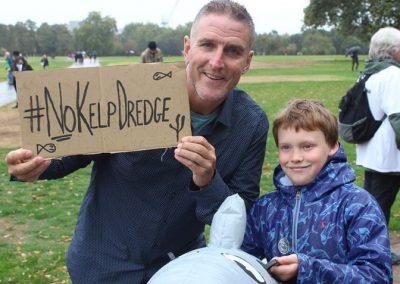 Finlay Pringle Ullapool Shark Ambassador with Lolo Williams at #PeoplesWalkForWildlife