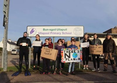 School Strike for Climate Action Ullapool 15 February 2019