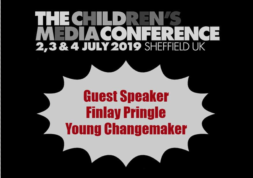 Finlay Pringle Childrens Media Conference 2019 Changemaker advert