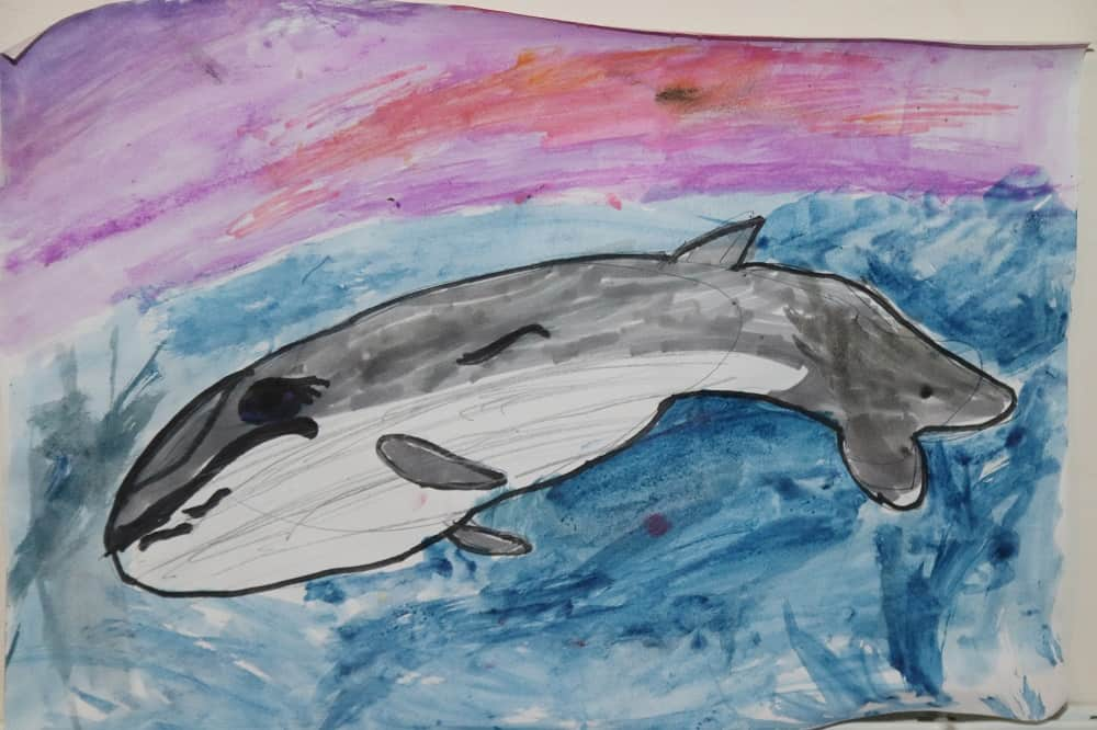 Whale Painting by Ella Pringle
