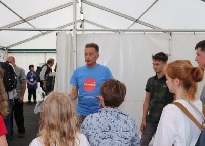 BirdFair 2019 backstage with Chris Packham