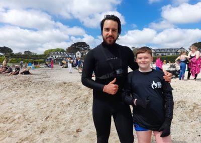Finlay and Ali Tabrezi Gilly beach Falmouth